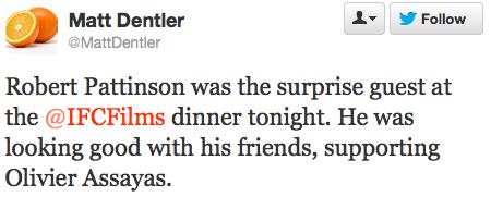 Роберт Паттинсон посетил ужин IFC Films в Нью-Йорке 5 октября