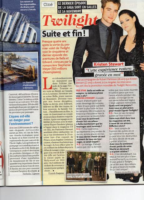 Интервью Кристен Стюарт с Télé Star (Франция)