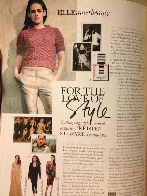 Кристен Стюарт рассказывает о своем стиле в журнале ELLE UK (февраль 2013)