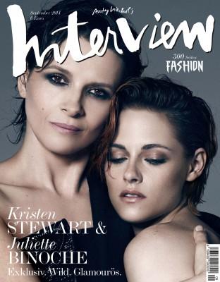 Кристен Стюарт и Жюльет Бинош на обложке «Interview» (Германия)
